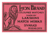 Lion Brand Coloured Matches Posters