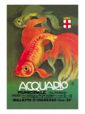 Aquarium Affiches par Leopoldo Metlicovitz