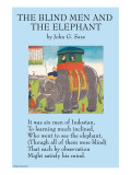 The Blind Men &amp; the Elephant Print