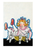 Goldilocks Breaks Baby Bear's Chair Prints by Julia Letheld Hahn