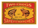 Two Frogs Safety Matches Prints