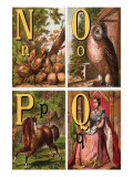 N, O, P, Q Illustrated Letters Prints by Edmund Evans