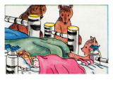 Someone Is Sleeping In My Bed Print by Julia Letheld Hahn