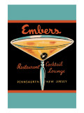 Embers Restaurant Cocktail Lounge Posters