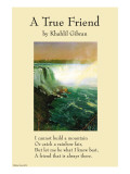 On Friendship - a True Friend From the Prophet Photo by Khalil Gibran