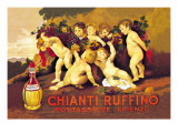 Chianti Ruffino Cherub Angels Poster von Leopoldo Metlicovitz