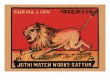 Burma Lion Posters