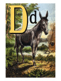 D For the Donkey With a Cross on His Back Posters by Edmund Evans