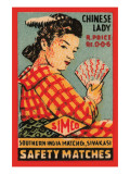 Chinese Lady Safety Matches Póster