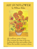 Ah! Sunflower Posters by William Blake