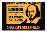 Shakespeare Express Print