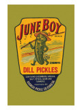 June Boy Dill Pickles Posters