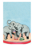 Three Elephants Prints by Julia Letheld Hahn