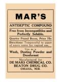 Mar's Antiseptic Compound Print