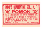 Haine's Qualitative Solution, N.F. - Poison Photo