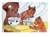 Bears Discover the Porridge Art by Julia Letheld Hahn