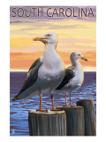 South Carolina - Sea Gulls Print