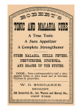 Robert's Tonic And Malaria Cure Posters
