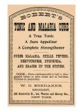 Robert's Tonic And Malaria Cure Prints