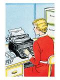 Typist Print by Julia Letheld Hahn