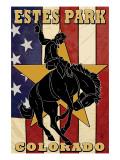 Estes Park, Colorado - Bucking Horse Kunstdrucke