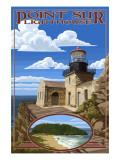 Point Sur Lighthouse - Big Sur Coast, California Print by  Lantern Press