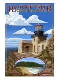 Point Sur Lighthouse - Big Sur Coast, California Print