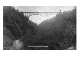 Alaska - View of Hurricane Gulch Bridge Plakater af  Lantern Press