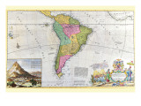 Antique Map of South America Poster by Hermann Moll