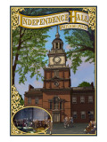 Independence Hall - Philadelphia, Pennsylvania Art by  Lantern Press