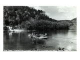 Kentucky - Cumberland Falls State Park; Cumberland River Car Ferry Print by  Lantern Press