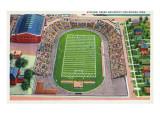 Des Moines, Iowa - Drake University; Aerial View of Stadium Posters