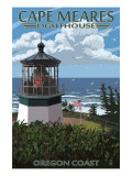 Cape Meares Lighthouse, Oregon Coast Posters by  Lantern Press