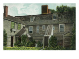Salem, Massachusetts - Rear View of the Witch House Posters by  Lantern Press