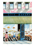 City Bakery Posters by Julia Letheld Hahn