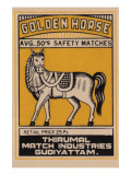 Golden Horse Avg. 50's Safety Matches Prints