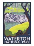 Waterton National Park, Canada - Beaver Family Plakaty autor Lantern Press