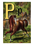 P For the Pony That Plays In the Park Prints by Edmund Evans