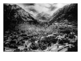 Ouray, Colorado - Panoramic View of Town, Mt Abram Poster von  Lantern Press