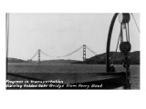 San Francisco, California - Golden Gate Bridge from Ferry Print by  Lantern Press