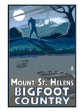 Mount St. Helens - Bigfoot Scene Print by  Lantern Press
