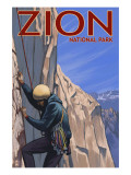 Zion National Park, UT - Climber Posters by  Lantern Press