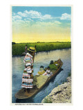 Everglades Nat'l Park, Florida - Moving Day in Longboat Prints by  Lantern Press