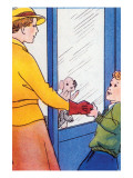 Look at This Puppy In the Window Prints by Julia Letheld Hahn