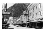 Juneau, Alaska - View of Franklin Street Posters
