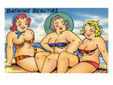 Comic Cartoon - Busty Bathing Beauties Posters