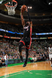 Miami Heat v Boston Celtics - Game Four, Boston, MA - MAY 9: Dwyane Wade Photographic Print by Brian Babineau