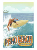 Surfer Big Wave - Pismo Beach, California Posters