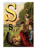 S For the Sun That Sets In the West Poster by Edmund Evans
