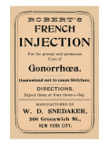 Robert's French Injection Poster